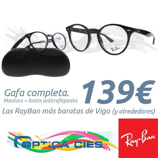 RayBan RB2180v 2000 en Óptica Cíes por 139€ (Gafa Completa)