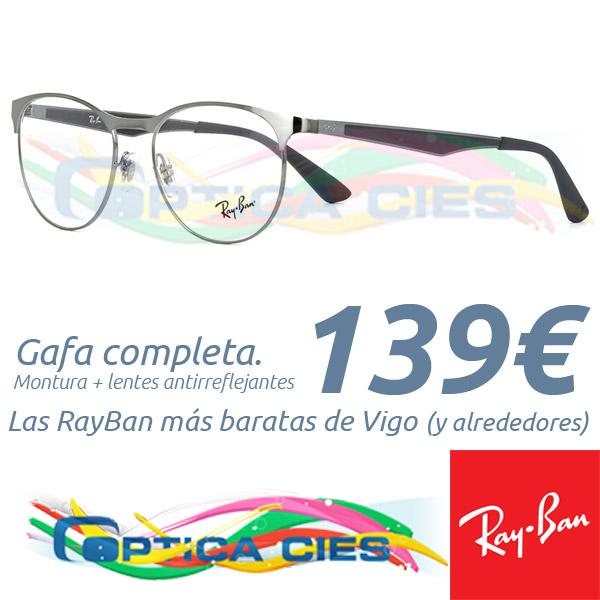 RayBan RB6365 2553 en Óptica Cíes por 139€ (Gafa Completa)