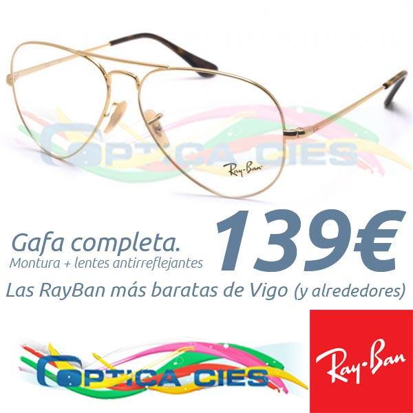 RayBan RB6489 Aviator 2500 en Óptica Cíes por 139€ (Gafa Completa)