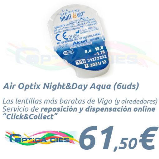 A001006 AirOptix Night and Day Aqua en Óptica Cíes Online