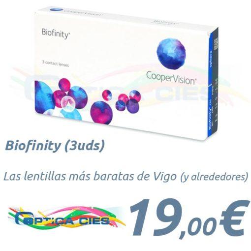 Biofinity en Optica Cies, Vigo
