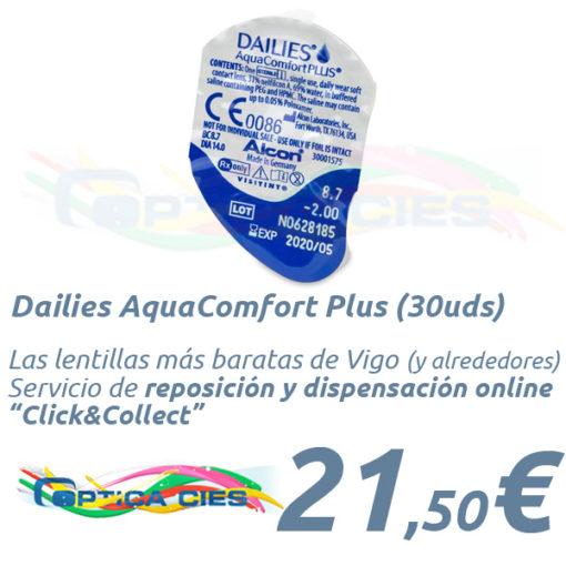 Lentillas Dailies AquaComfort Plus en Óptica Cíes Online - Vigo