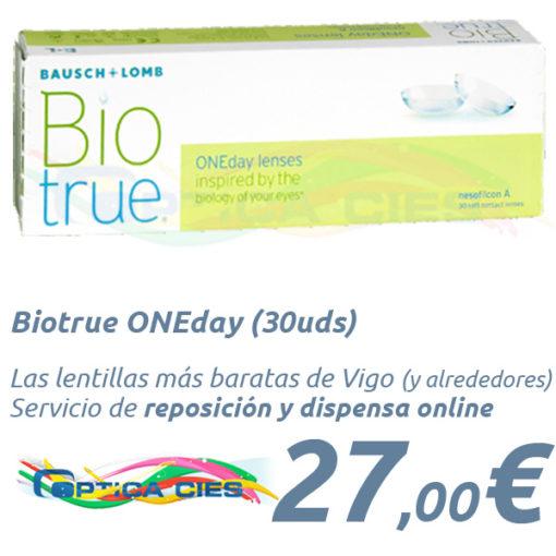Lentillas Biotrue ONEday 30 en Óptica Cíes - Vigo