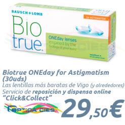 Lentillas Biotrue ONEday for Astigmatism 30 en Óptica Cíes - Vigo