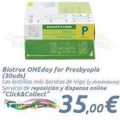 Lentillas Biotrue ONEday for Presbyopia 30 en Óptica Cíes - Vigo