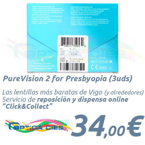 PureVision 2 for Presbyopia en Optica Cies, Vigo