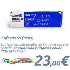 SofLens 59 en Óptica Cíes en Vigo