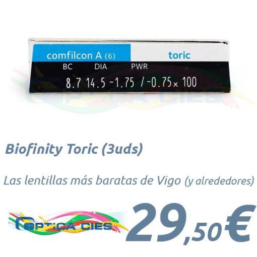 Biofinity Toric en Optica Cies Vigo