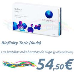 Biofinity Toric en Óptica Cíes Vigo