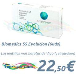 Biomedics 55 Evolution en Óptica Cíes Vigo