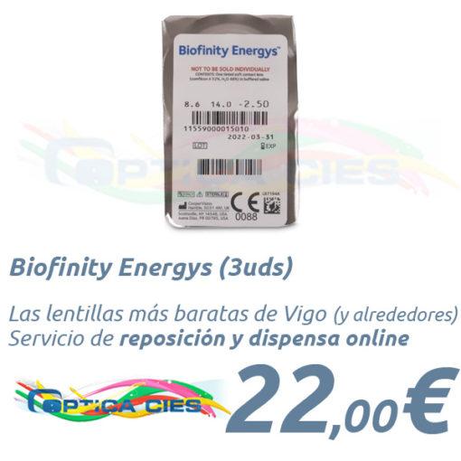 Biofinity Energys en Optica Cies, Vigo