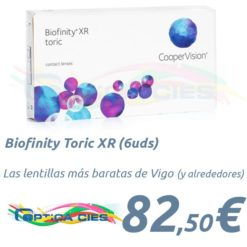 Biofinity Toric XR en Optica Cies Vigo