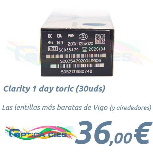 Clariti 1 day toric 30 en Optica Cies, Vigo
