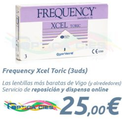 Frequency Xcel Toric en Optica Cies, Vigo