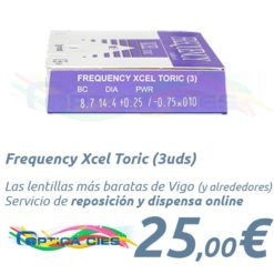 Frequency Xcel Toric en Optica Cies, Vigo