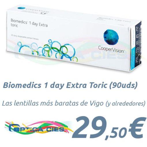 Biomedics 1 day Extra Toric en Óptica Cíes Vigo