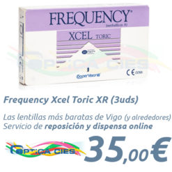Frequency Xcel Toric XR en Optica Cies Vigo