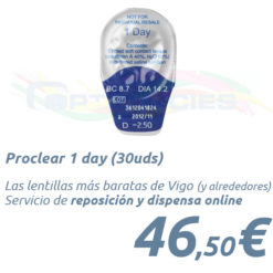 Proclear 1 day en Optica Cies Vigo