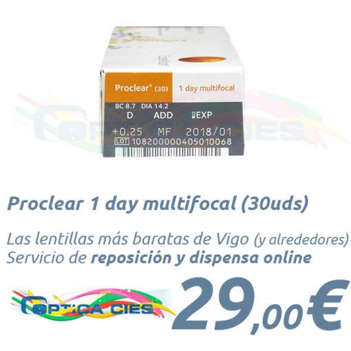 Proclear 1 day multifocal en Óptica Cíes Vigo
