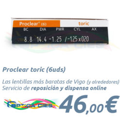 Proclear toric en Óptica Cíes Vigo