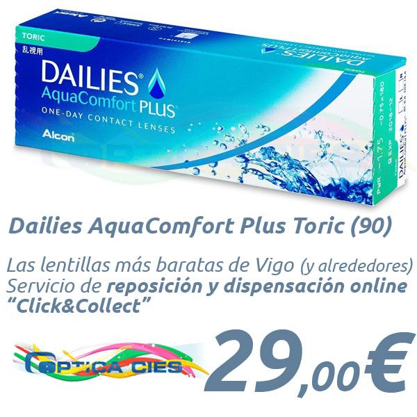 078b00a0e8da6 Lentillas Dailies AquaComfort Plus Toric en Óptica Cíes Online - Vigo
