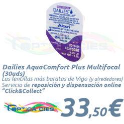 Lentillas Dailies AquaComfort Plus Multifocal en Óptica Cíes Online - Vigo