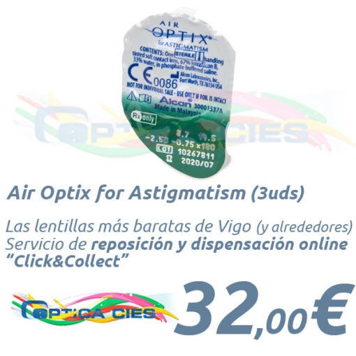 Lentillas Air Optix for Astigmatism en Óptica Cíes Online - Vigo