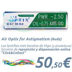 Lentillas Air Optix for Astigmatism en Óptica Cíes Online - Vigo