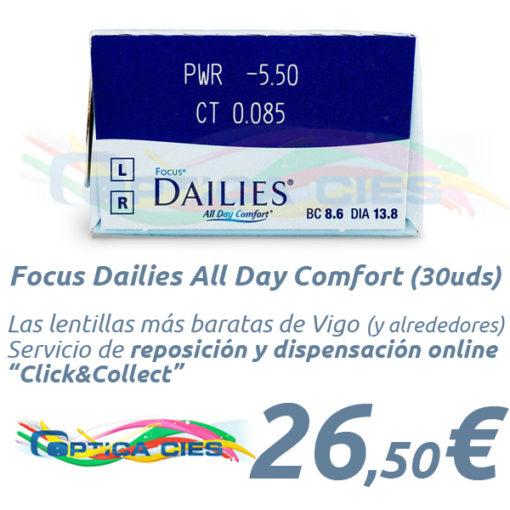 Lentillas Focus Dailies All Day Comfort en Óptica Cíes Online - Vigo