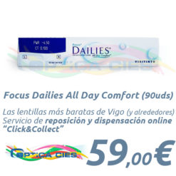 Lentillas Focus Dailies All Day Comfort en Óptica Cíes Online - Vigo