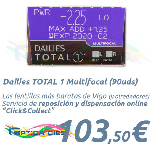 Dailies TOTAL 1 Multifocal en Óptica Cíes Online - Vigo