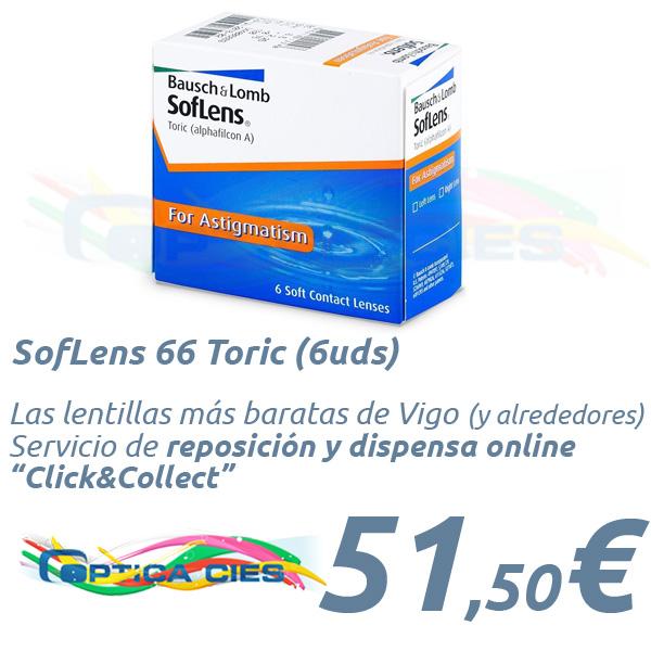 370e77b668 SofLens 66 Toric (6uds) - en Óptica Cíes, tus lentes de contacto.