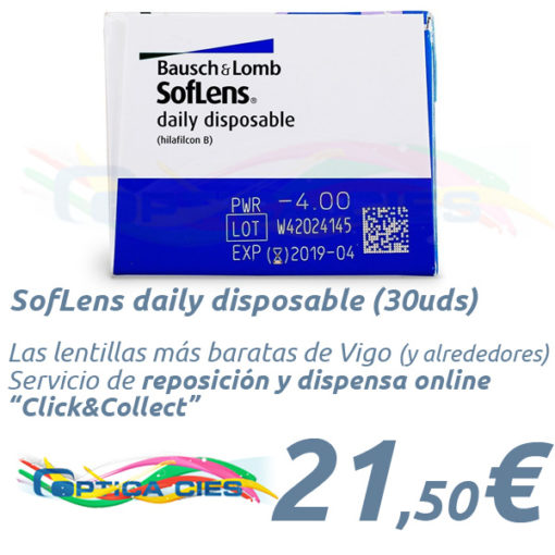 SofLens daily disposable en Óptica Cíes Online