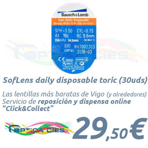 SofLens daily disposable toric en Óptica Cíes Online