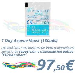 Lentillas 1 Day Acuvue Moist en Óptica Cíes Online - Vigo