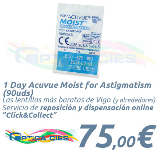 1 Day Acuvue Moist for Astigmatism 90 en Óptica Cíes Online
