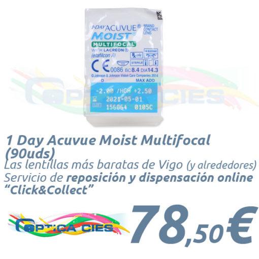 1 Day Acuvue Moist Multifocal 90 en Óptica Cíes Online