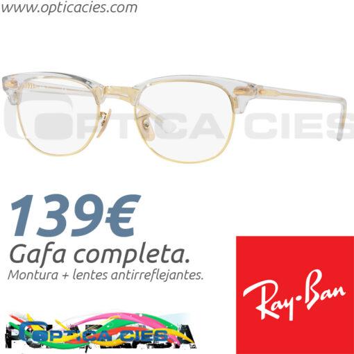 RayBan RB5154 Clubmaster 5762 51/21 145 en Óptica Cíes